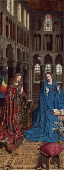 Annunciation 1434-1436, Jan van Eyck, Nat'l Gallery in Washington DC