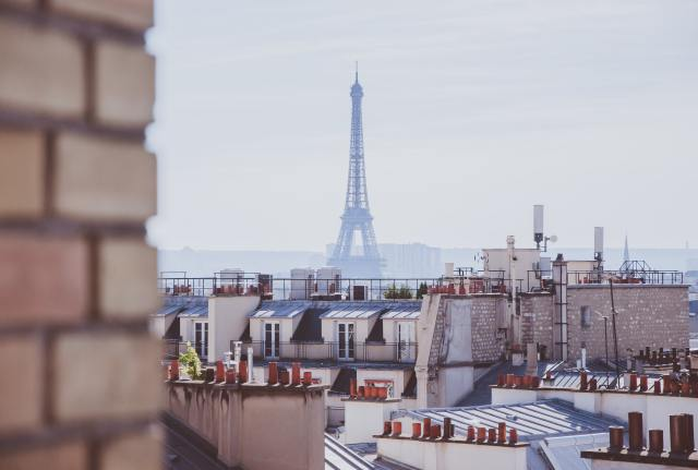 A rooftop view of Paris