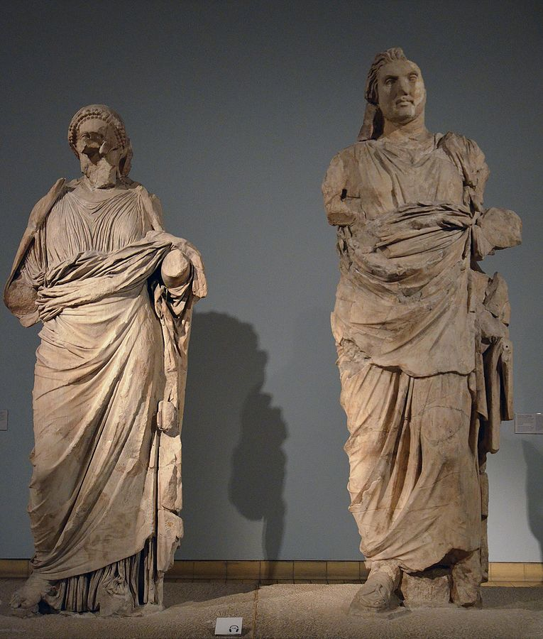 Portrair Statues of Mausolos and Artemisia