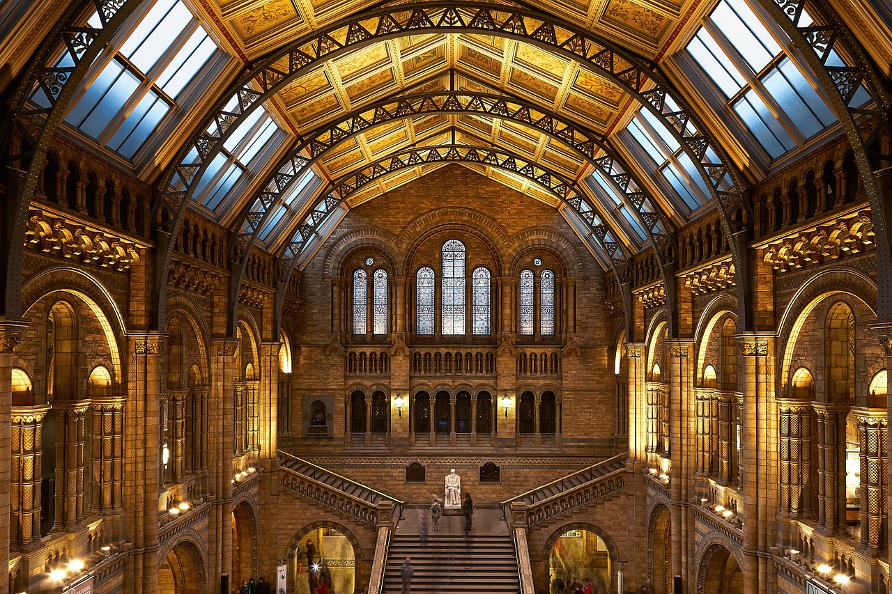 Interior of the Natural History Museum, London