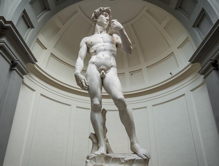 sculpture of Michelangelo's David in Florence