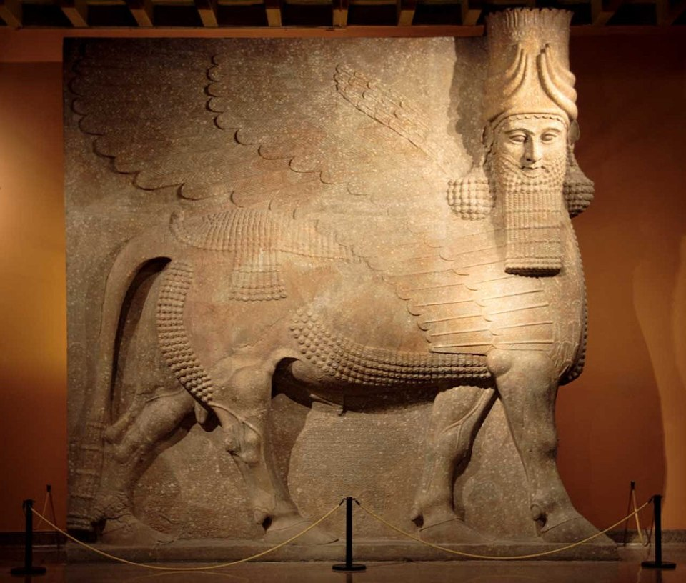 human headed winged bull, Lamassu