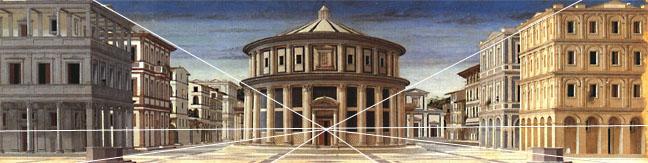 painting of an empty city by Piero della Francesca