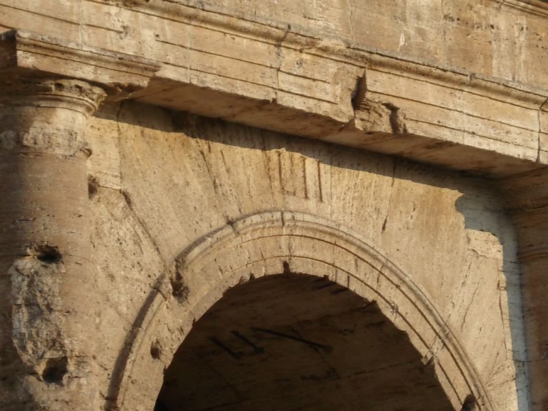 Entrance to the Colosseum in Rome