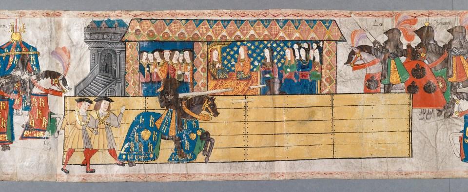 King Henry Jousting, Celebrating Birth of Son