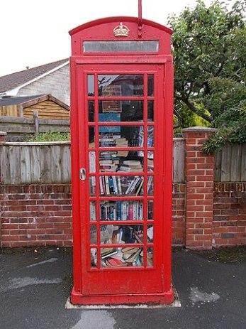 British Phone Booth, Books Inside