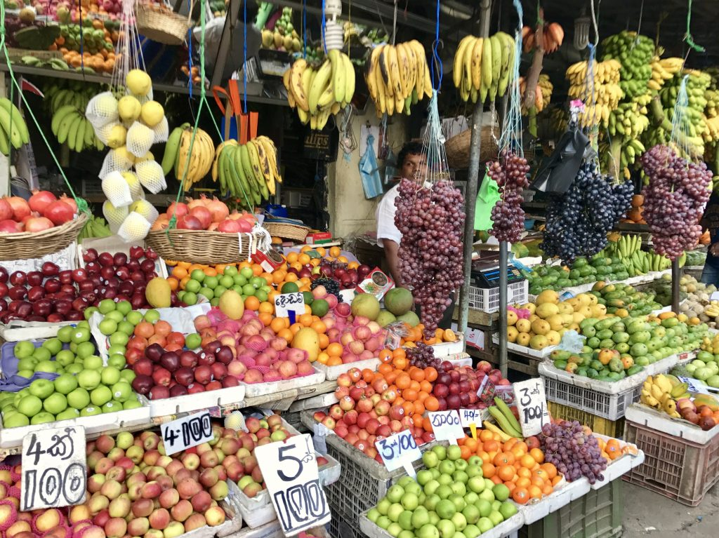 Vers eten bij Kandy Central Market