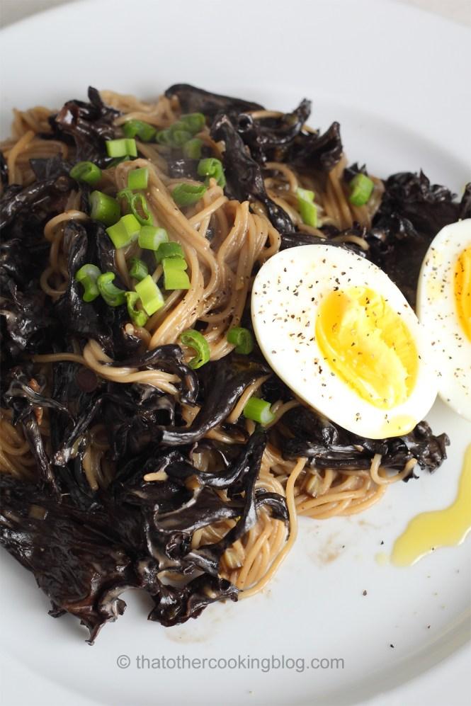 Black Trumpet Mushroom Capellini Pasta