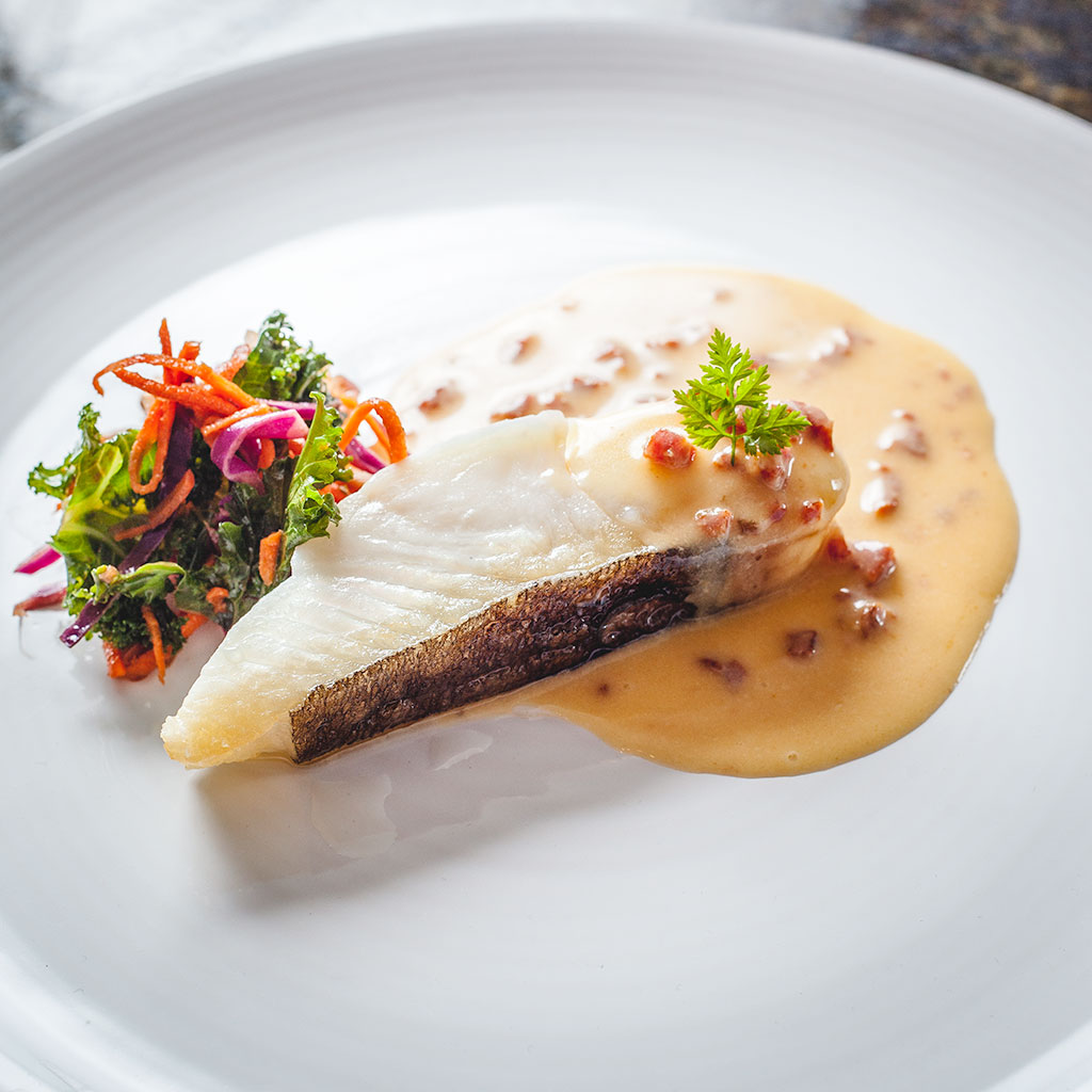 Pan Roasted Halibut : Chorizo and Caper Buttersauce : Kale Summer ...
