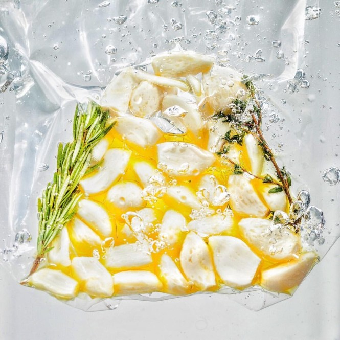 Incredible sous vide fermented garlic confit sauce @ thatothercookingblog.com