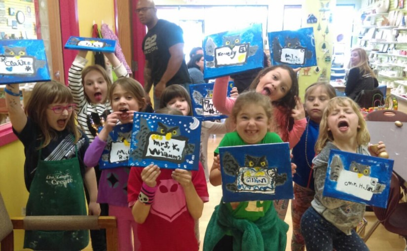 Recent Kids' Canvas Painting Birthday Party Fun!