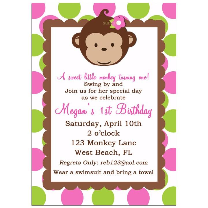 mod monkey girl birthday party
