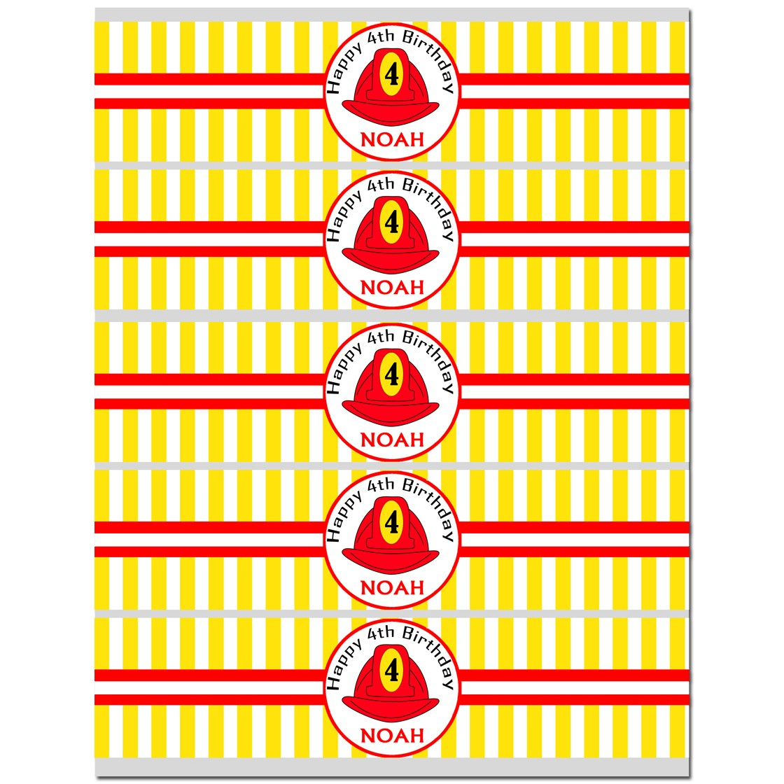 Fireman S Hat Personalized Water Labels By That Party Chick