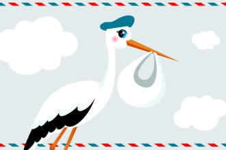 Here Comes the Stork - That Poore Baby is on it's Way!
