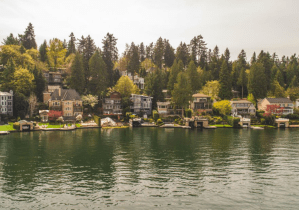 Homes on the Shore of Lake Oswego