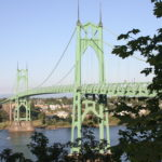 St. Johns Bridge in N Portland