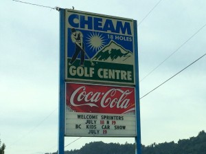 The Cheam Mountain Golf Centre welcomes us