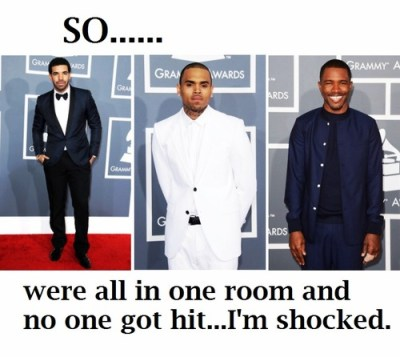 Drake, Chris Brown, Frank Ocean, 2013 Grammys