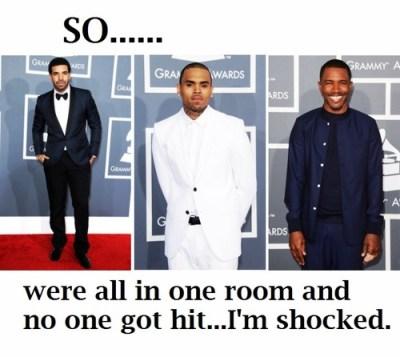 Drake, Chris Brown, Frank Ocean, 2013 Grammys