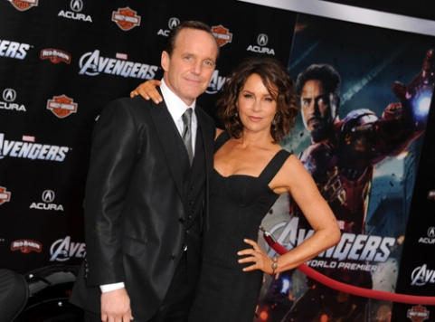 Clark Gregg and Jennifer Gray