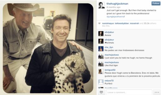 Hugh Jackman, Instagram,