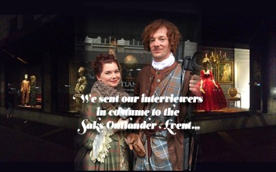 Outlander Saks Event Interviews with Sam Heughan, Caitriona Balfe, Terry Dresbach and Ron Moore!