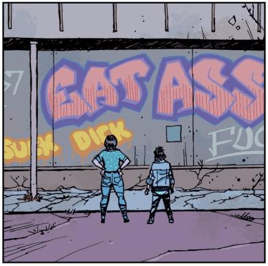 Paper Girls - mall graffiti