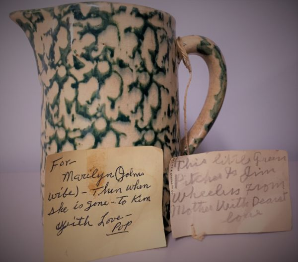 Antique pitcher, family treasure