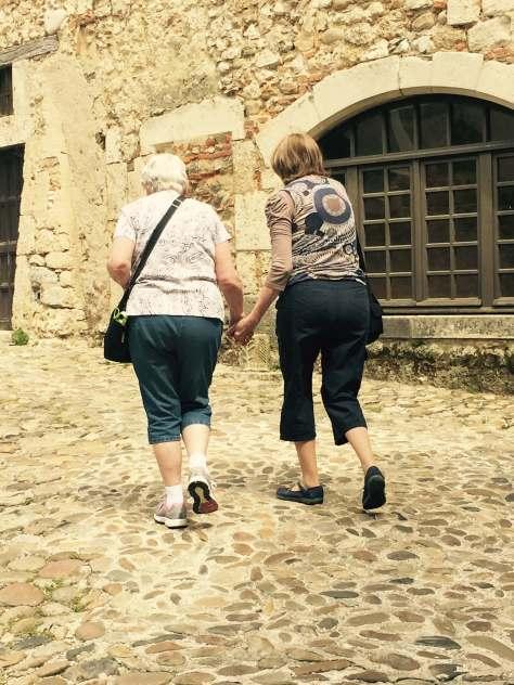 Mom, Karen, France, Perouges, 2015