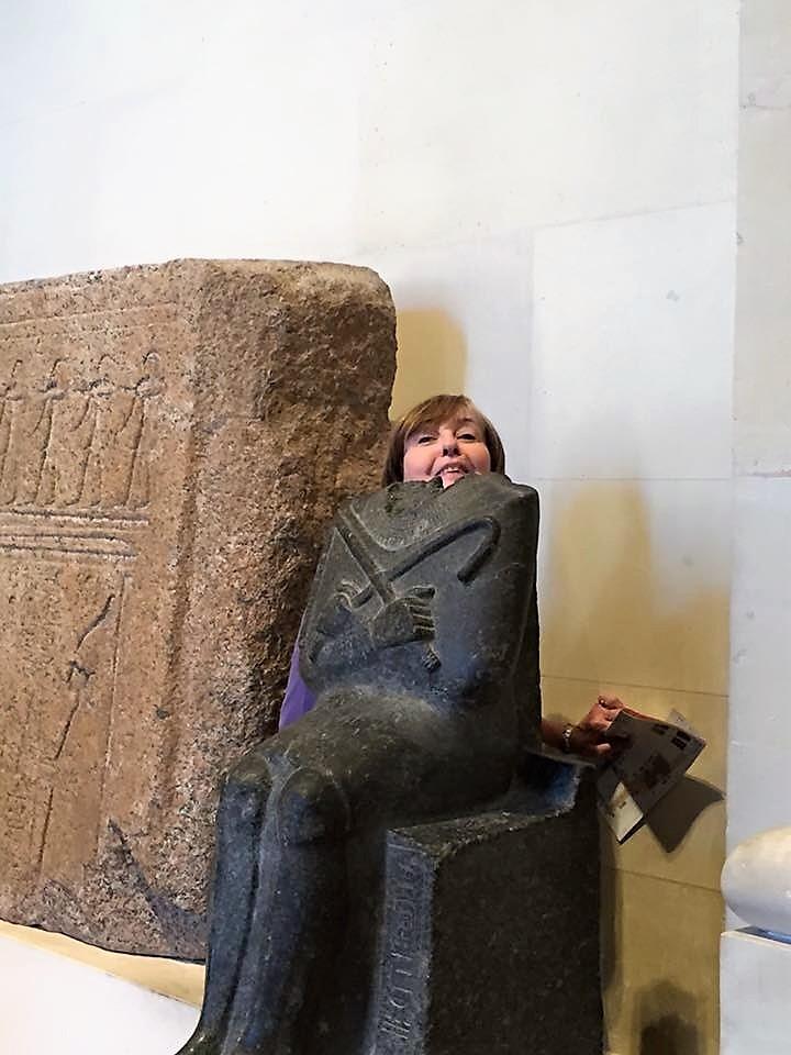 Karen at the Louvre, France 2015