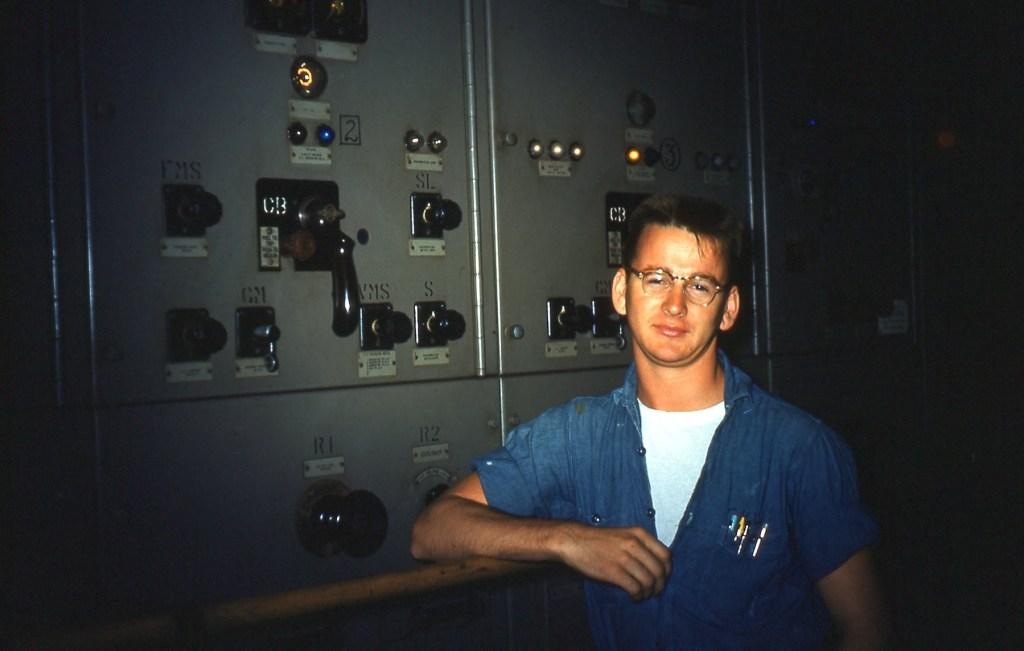 Engine room U.S.S. Waccamaw