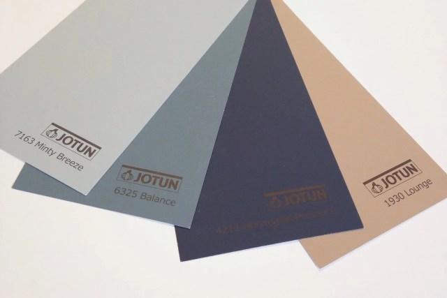 INGRIDESIGN jotun colour swatches Norwegian Presence