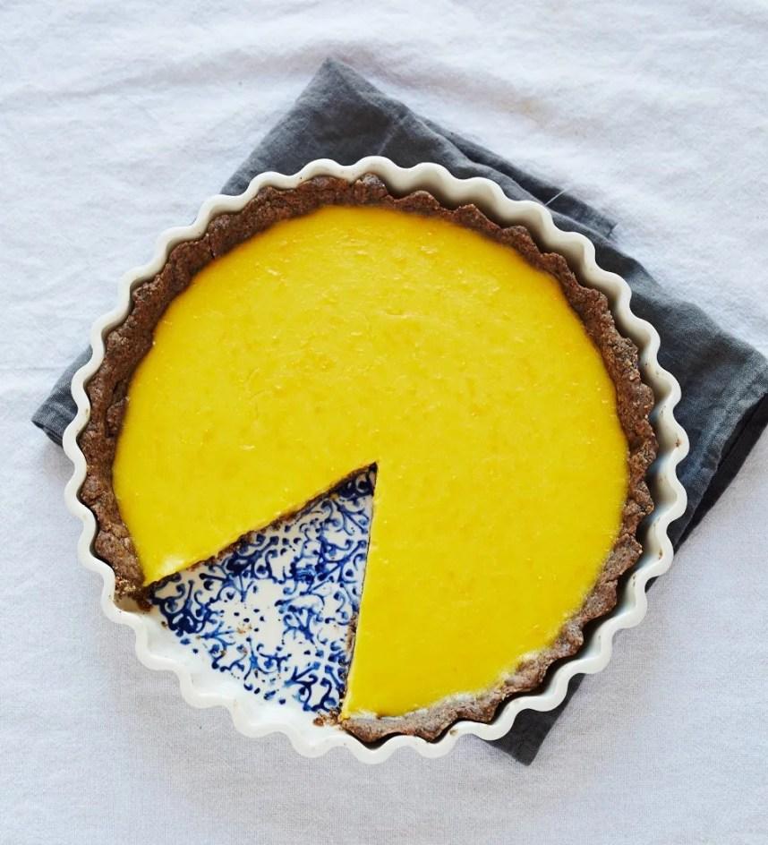 Meyer lemon buckwheat tart by Sassy Kitchen