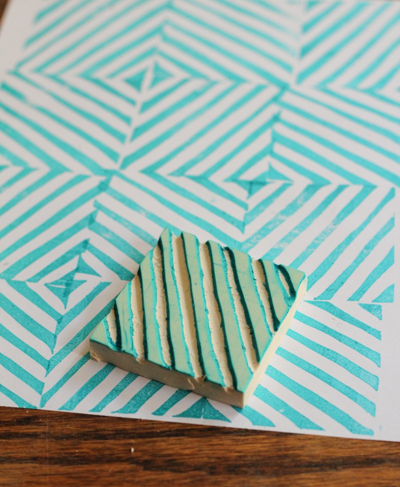 DIY rubber stamp by The Crafted Life