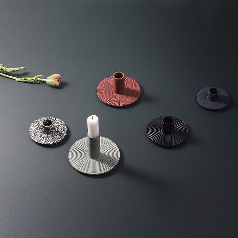 fermliving_CAST_IRON_CANDLE_HOLDERS