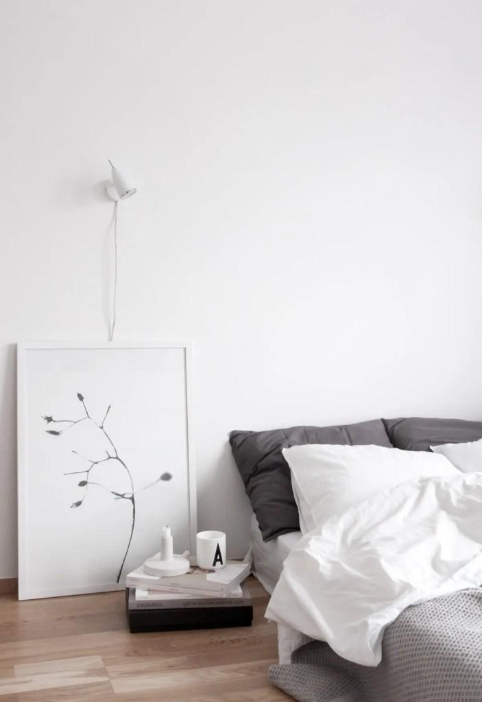 10 Creative Nordic Nightstand Ideas: industrial scandinavian bedroom