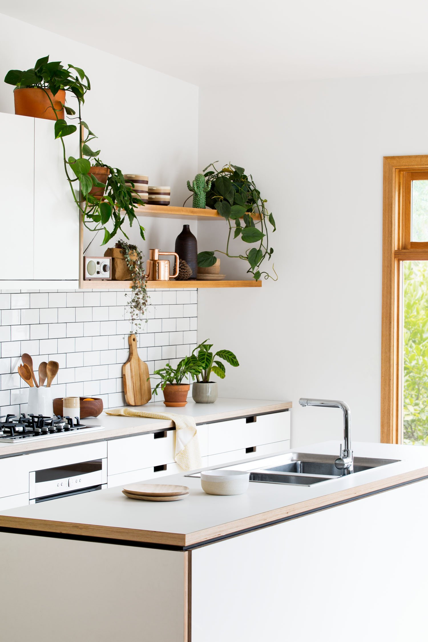 2 // Bring Nature Inside With Plants And Green To Brighten Up Your Kitchen.  Large Leafy Greenery And Hanging Plants Are Perfect, But If You Want  Something ...