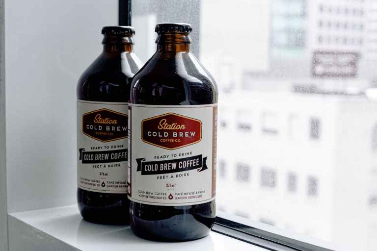 Bottled cold brew coffee