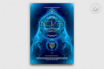 Electro Flyer Poster Template