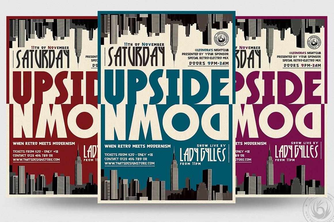 Upside Down Flyer Template