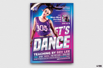 Dance Classes Flyer Template