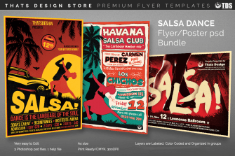 Salsa Dance Flyer Templates