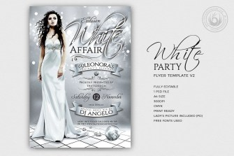 White Party Flyer Template V2