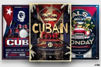 Cuban Salsa Flyer Templates PSD Designs for photoshop V2
