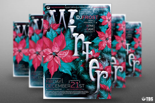 Winter Season Flyer Template V.2