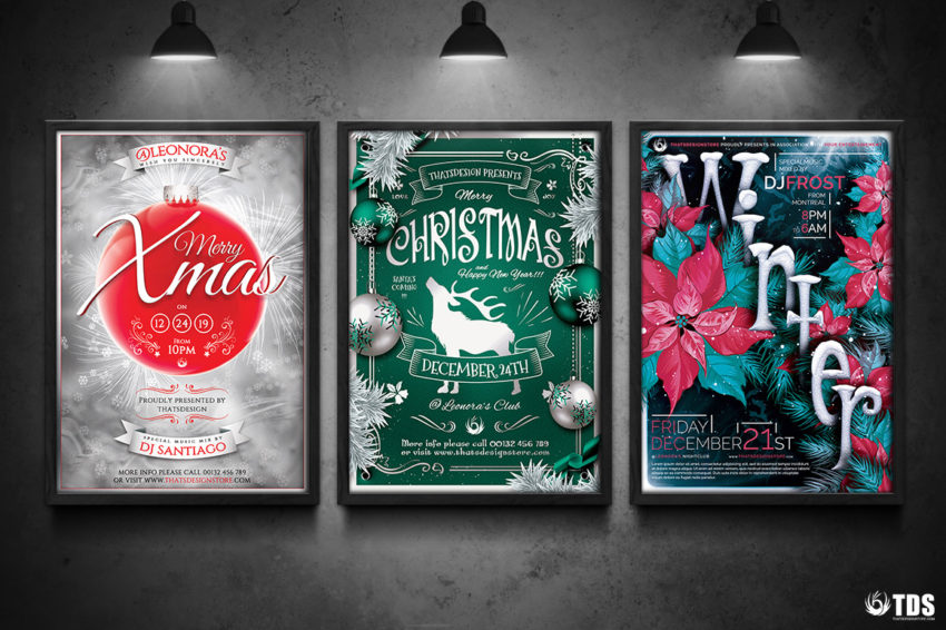 3 FLYERS PSD - Winter Events Flyer Templates V.3