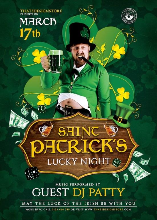 St Patricks Day Flyer Template