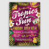 Summer Tropics Flyer Template Psd
