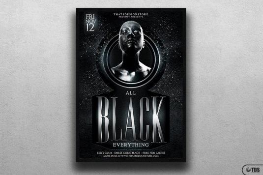 Black Party Flyer Template V.3
