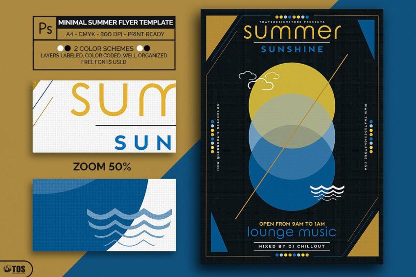 Minimal Summer Flyer Template